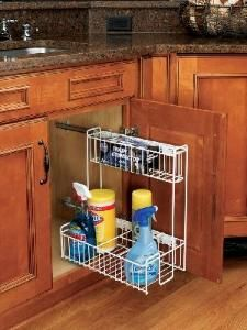 9 3 4 Inch Pull Out Base Organizer 548 10 Rev A Shelf Cabinets Organization Under Sink Organization