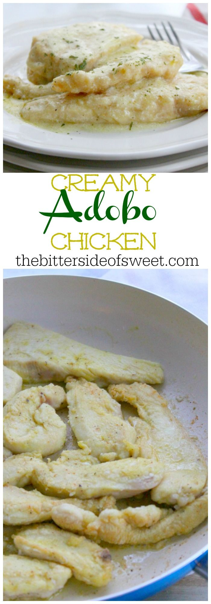 Creamy Adobo Chicken | The Bitter Side of Sweet #stonyfieldblogger #ad #OrganicMoments