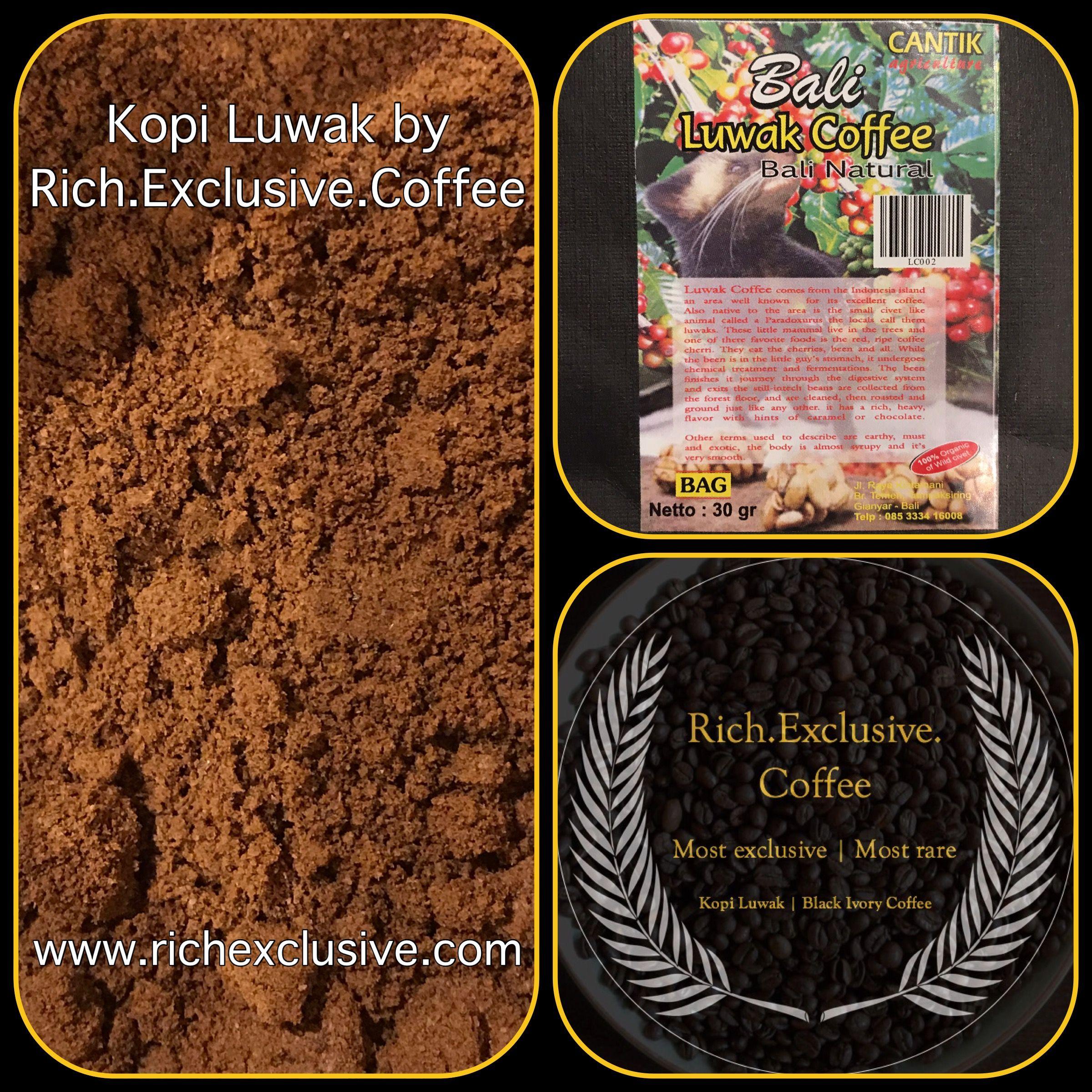 Pin op Kopi Luwak by Rich.Exclusive.Coffee