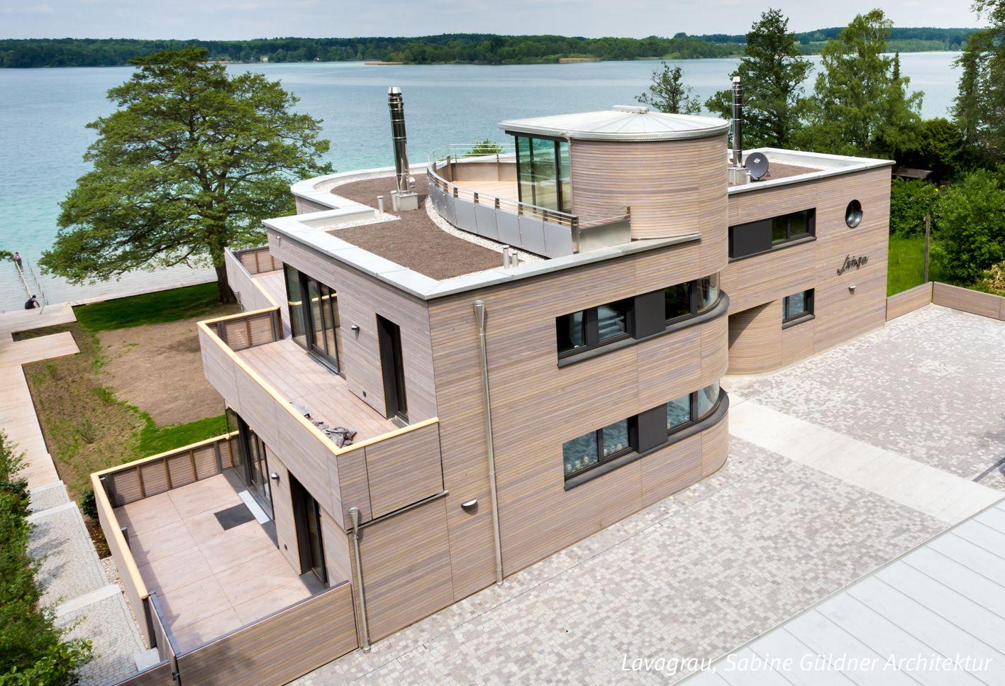 Architekten Kleve modernes wohnhaus mit grauer holzfassade dura patina rhombusleiste