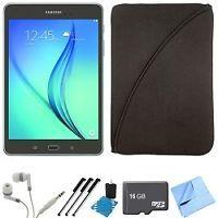 Samsung Galaxy Tab A 8-Inch Tablet (16 GB, Smoky Titanium) 16GB Memory Card Bundle