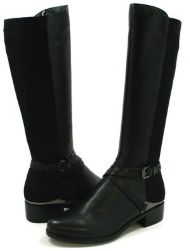 0e61f27fb9 SoleMani Gabi 2 Black Leather Boot SLIM CALF | Women's Boots, Shoes ...