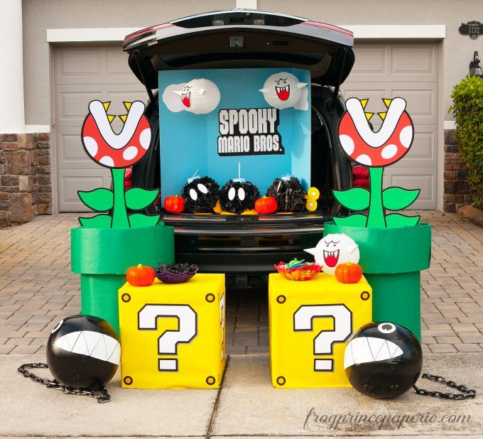 Mario Brothers Trunk or Treat Ideas - Frog Prince Paperie #trunkortreatideasforcarsforchurch