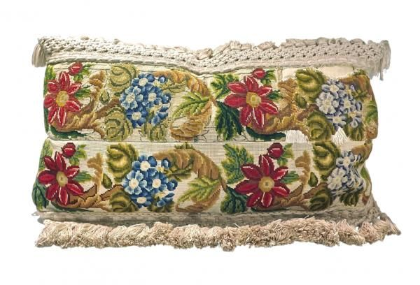 Pillow w/ Antique Tapestry Needlepoint