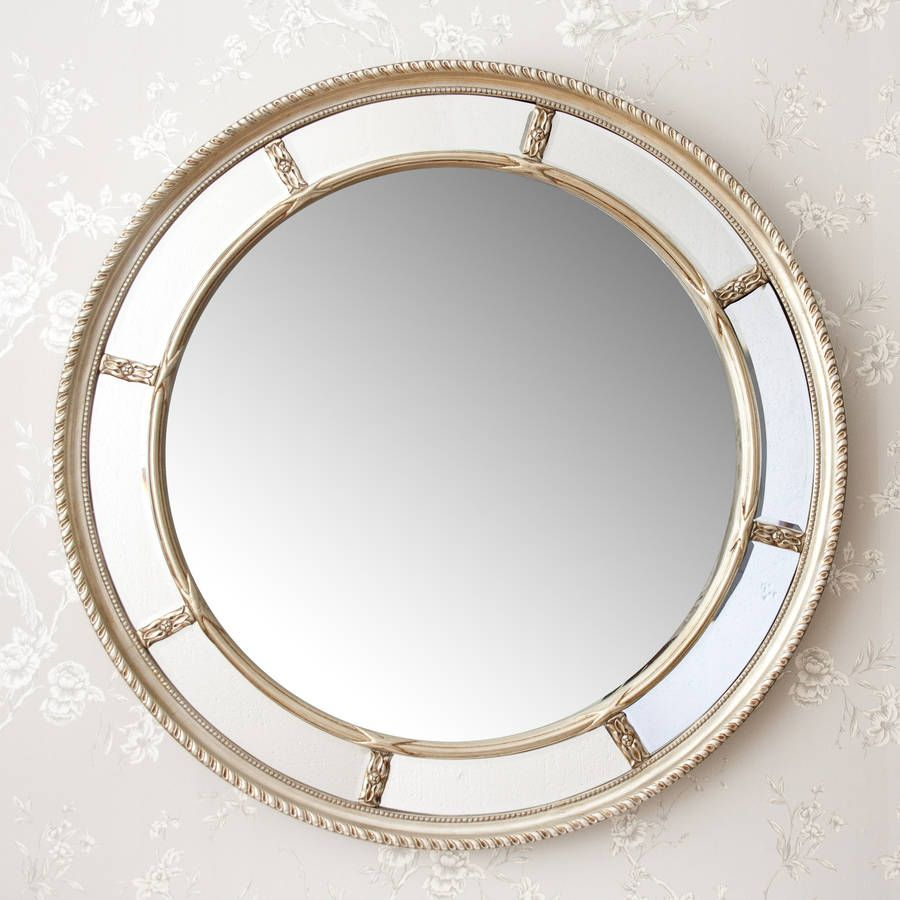 decor accent mosaic decorshore decorative mirror silver tile round tone topaz jewel frame glass embossed wall