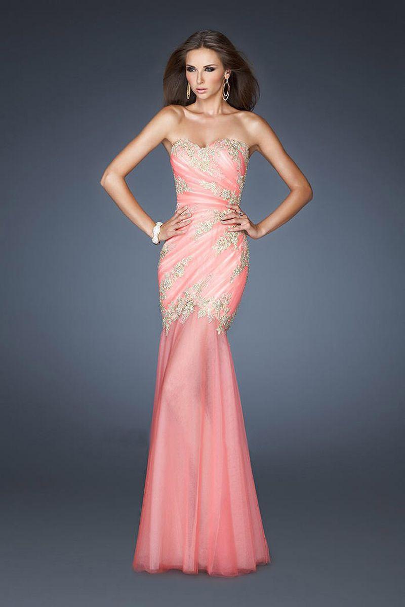 Vestido de Fiesta 2014 Free Shipping Mermaid Appliqued Long Dresses ...