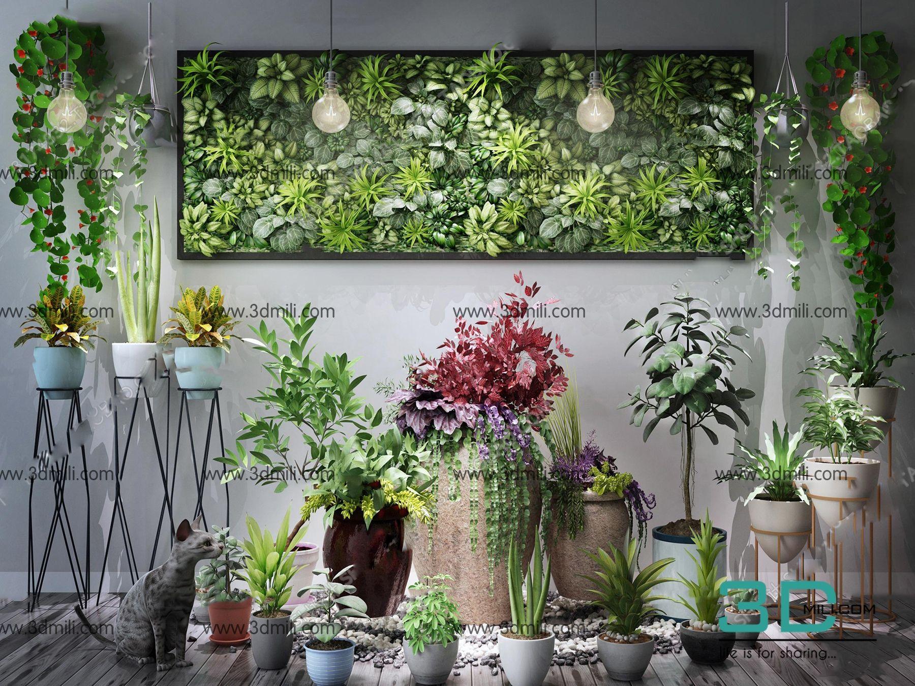 346  Plant 3dsmax Model Free Download - 3D Mili - Download