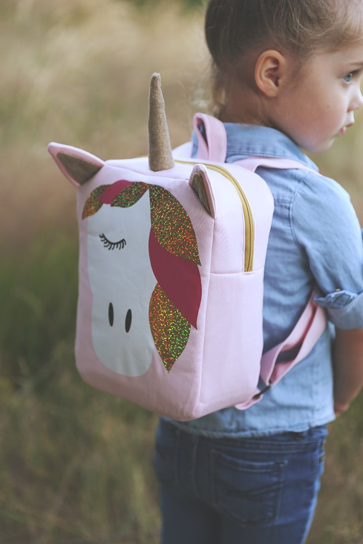 Unicorn Backpack Free Pattern With Cricut Explore Air 2 Sew Much Ado Kids Backpack Pattern Backpack Pattern Backpack Pattern Sewing