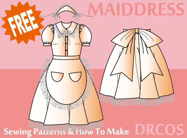 Maid Costume - Free Japanese Cosplay Sewing Pattern! You can learn ...