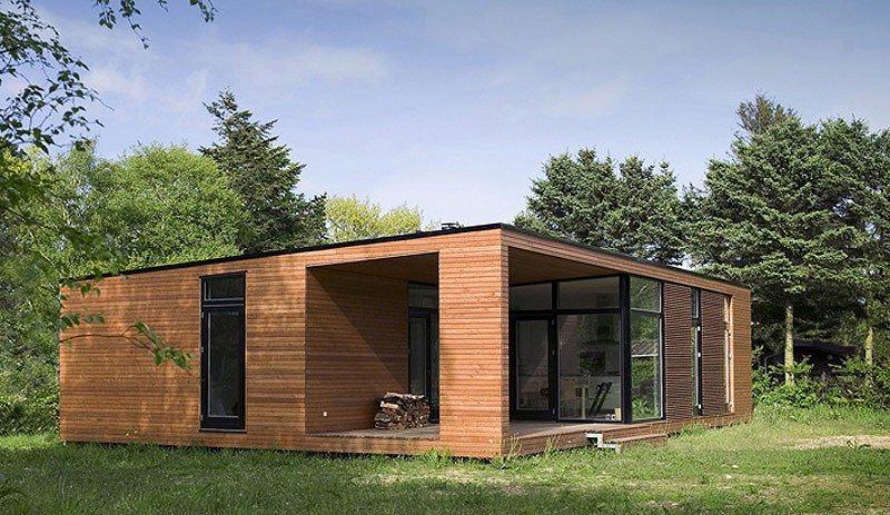 Arquitectura sostenible casas prefabricadas de madera e - Casa de maderas prefabricadas ...