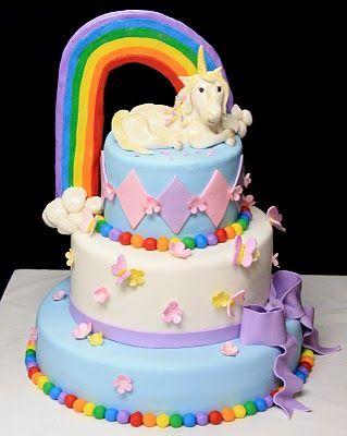Rainbow AND unicorn cakeokay Im sorry but my inner 6 year old