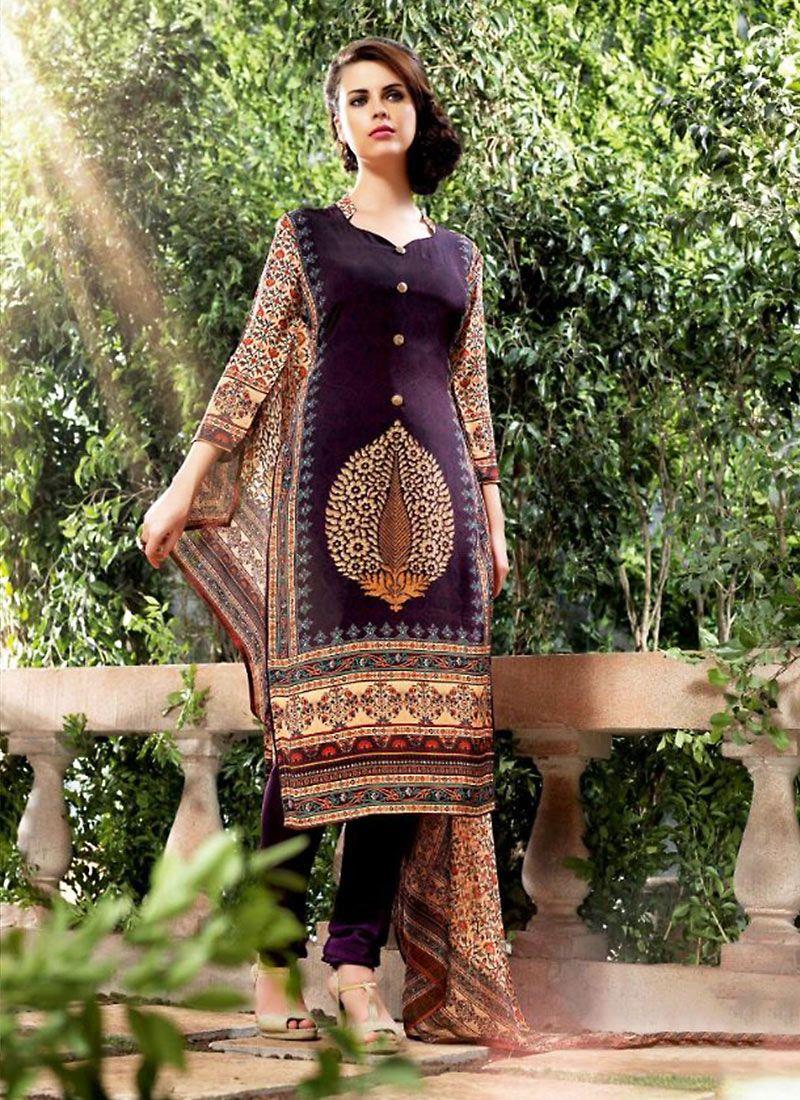 421c3cff5a3 Wine Georgette Printed Salwar Kameez  casual  officewear  salwarkameez   suit  suitsonline  traditional  straightcut  fullsleeve  contemporary   womenwear ...