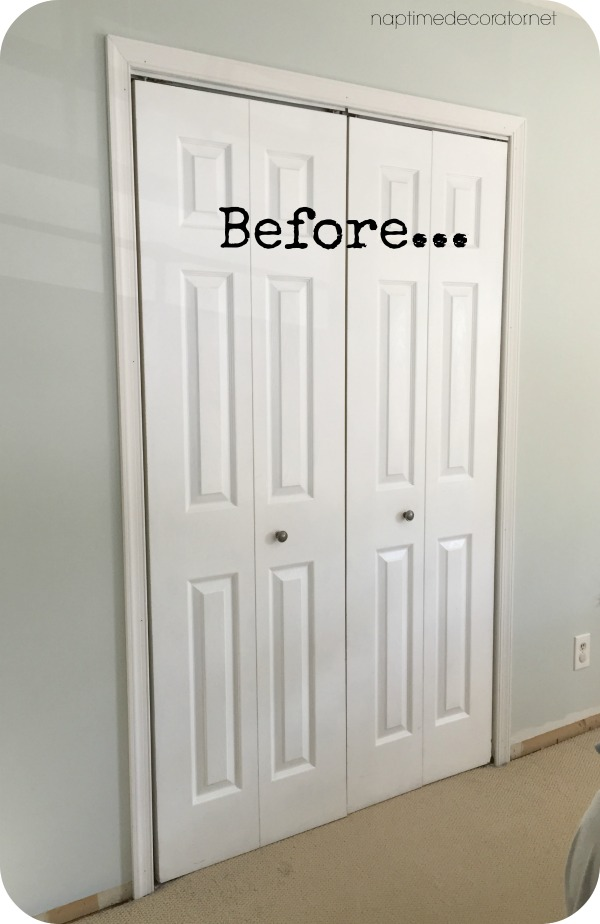 From Boring Bi Folds To Plank French Doors The Closet Makeover In 2020 Bifold Doors Makeover Closet Makeover Door Makeover