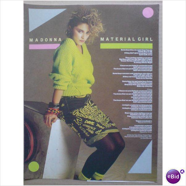 Madonna Material Girl Madonna Material Girl Material Girls Madonna