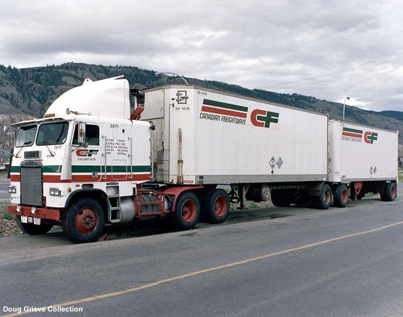 Canadian Freightways Freightliner BTrain Trucks
