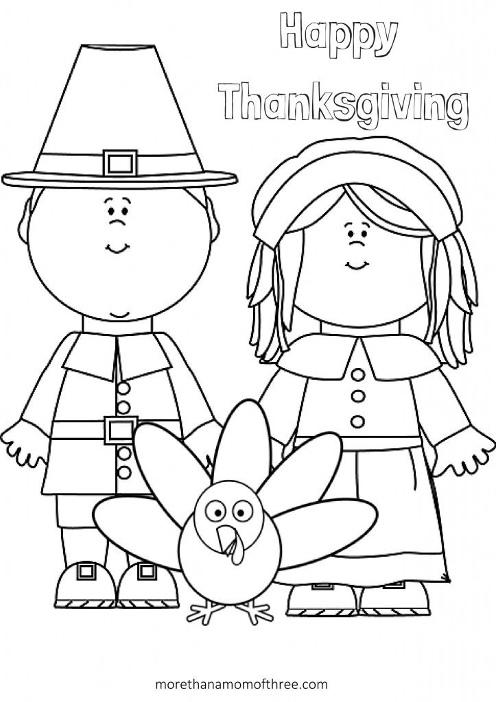 Free Thanksgiving Coloring Pages Printables For Kids   Happy