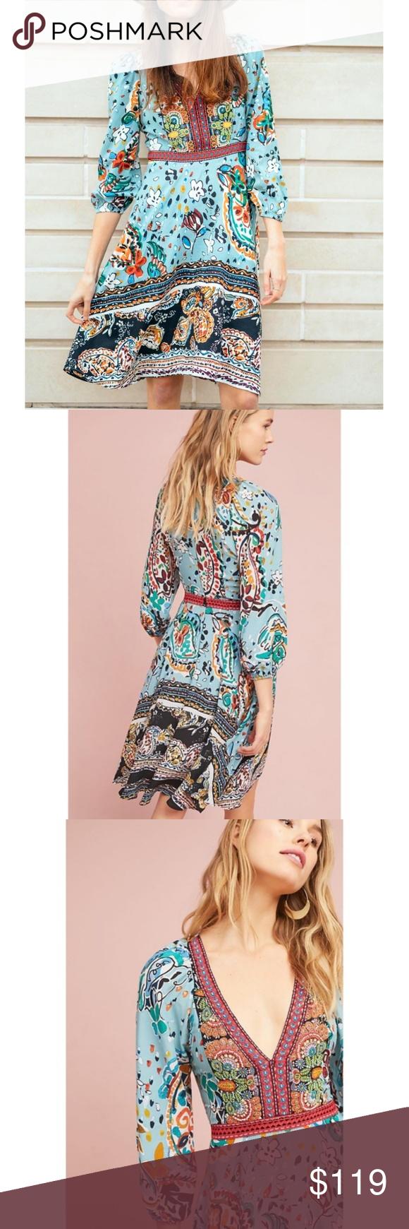 dcb6e99f5aff1 NWT ANTHROPOLOGIE Beaded Embellished Karmina Dress Brand new with tags NWT  ANTHROPOLOGIE Akemi + Kin Beaded