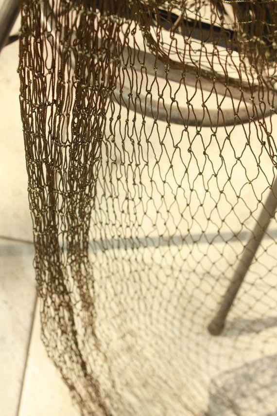 Moss Green Fish Net 4 5x5 5 Yards4 10x5 Meters Of By Gbsupplies Moss Green Beach Decor Coastal Decor