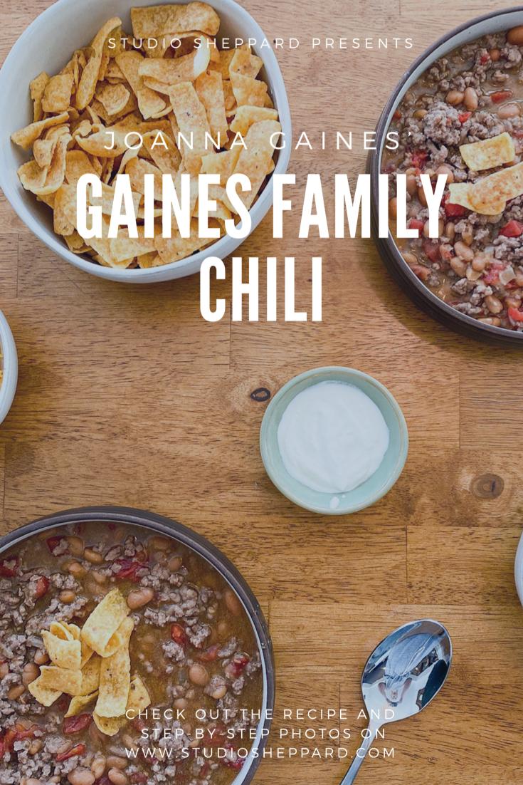 Joanna Gaines Family Chili Studio Sheppard Recipe Recipes Magnolia Foods Fall Cooking