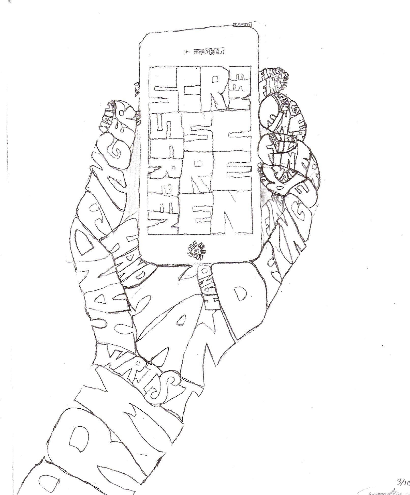 Line Art Projects Middle School : Grade calligram word pictures art lesson plans