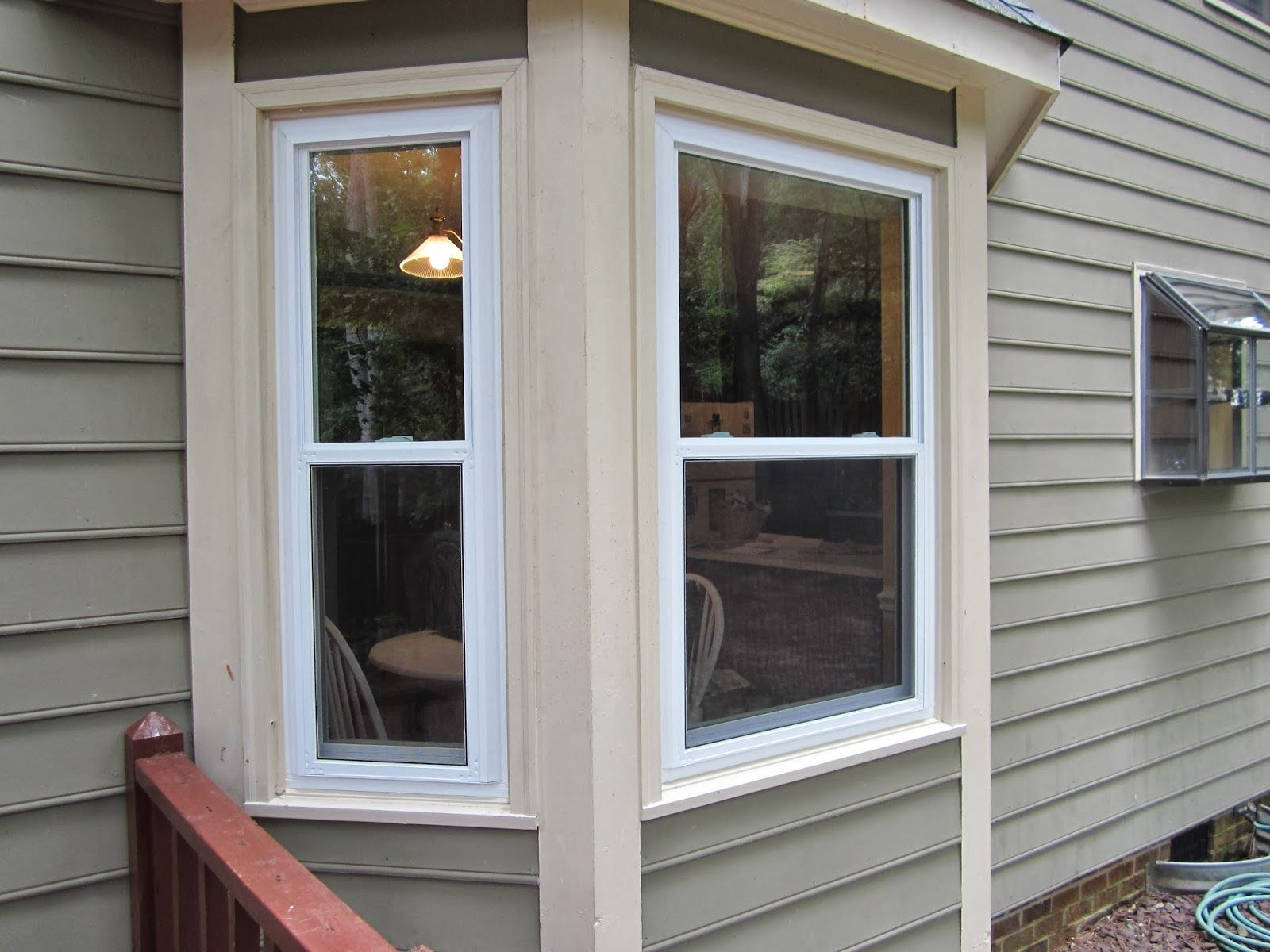Image result for cream trim window White windows