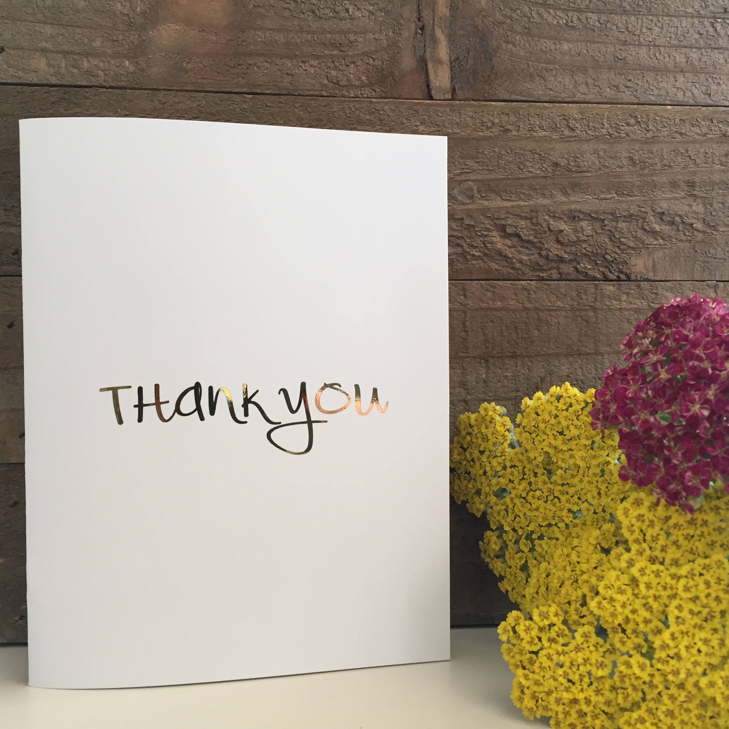 Thank You Card Set / Gold Foil Card Set / Blank Greeting Cards by PaisleyAndJuneCardCo on Etsy