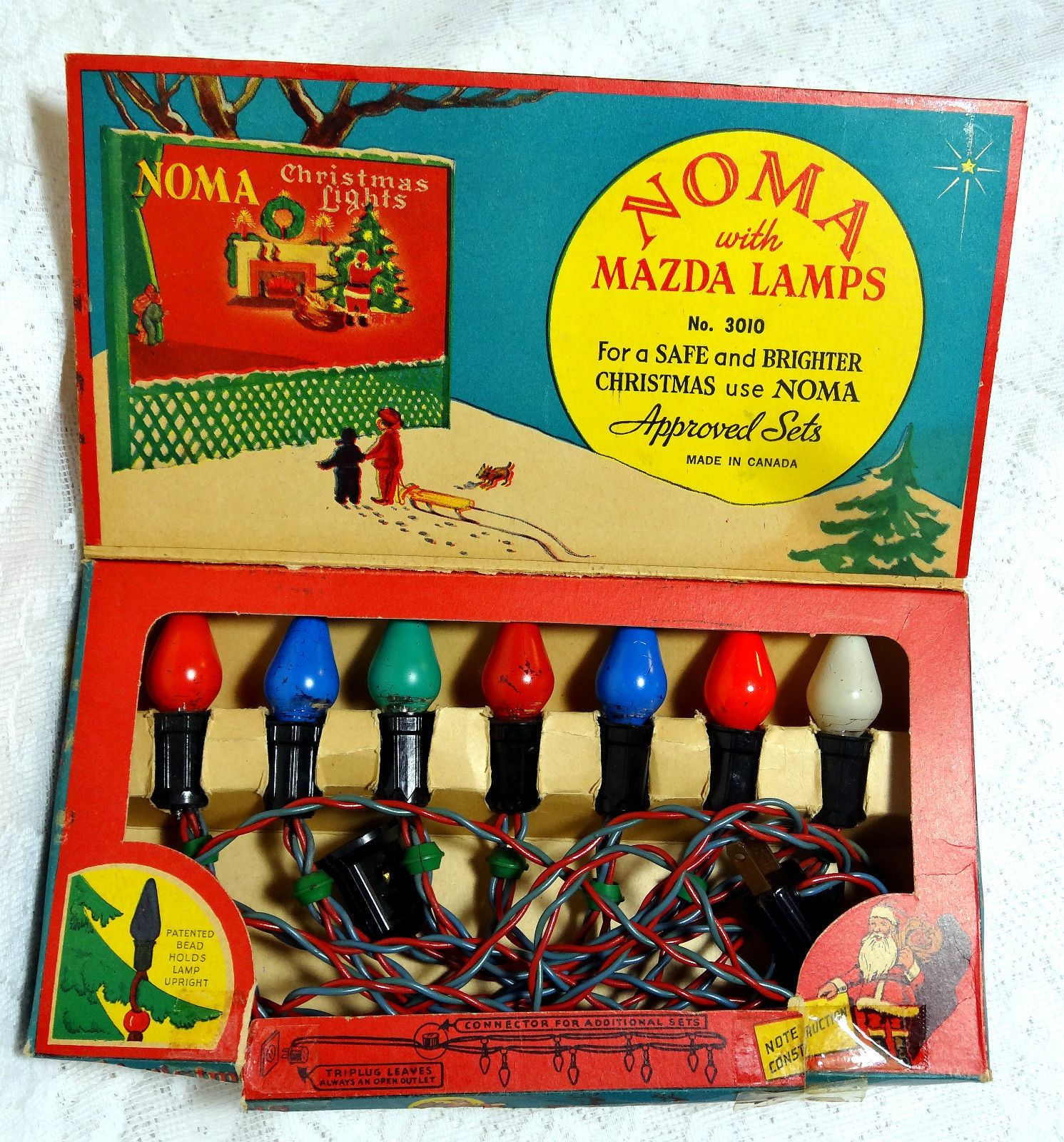 Vintage Noma Christmas Lights Mazda Lamps Working 1936 from eBay ...