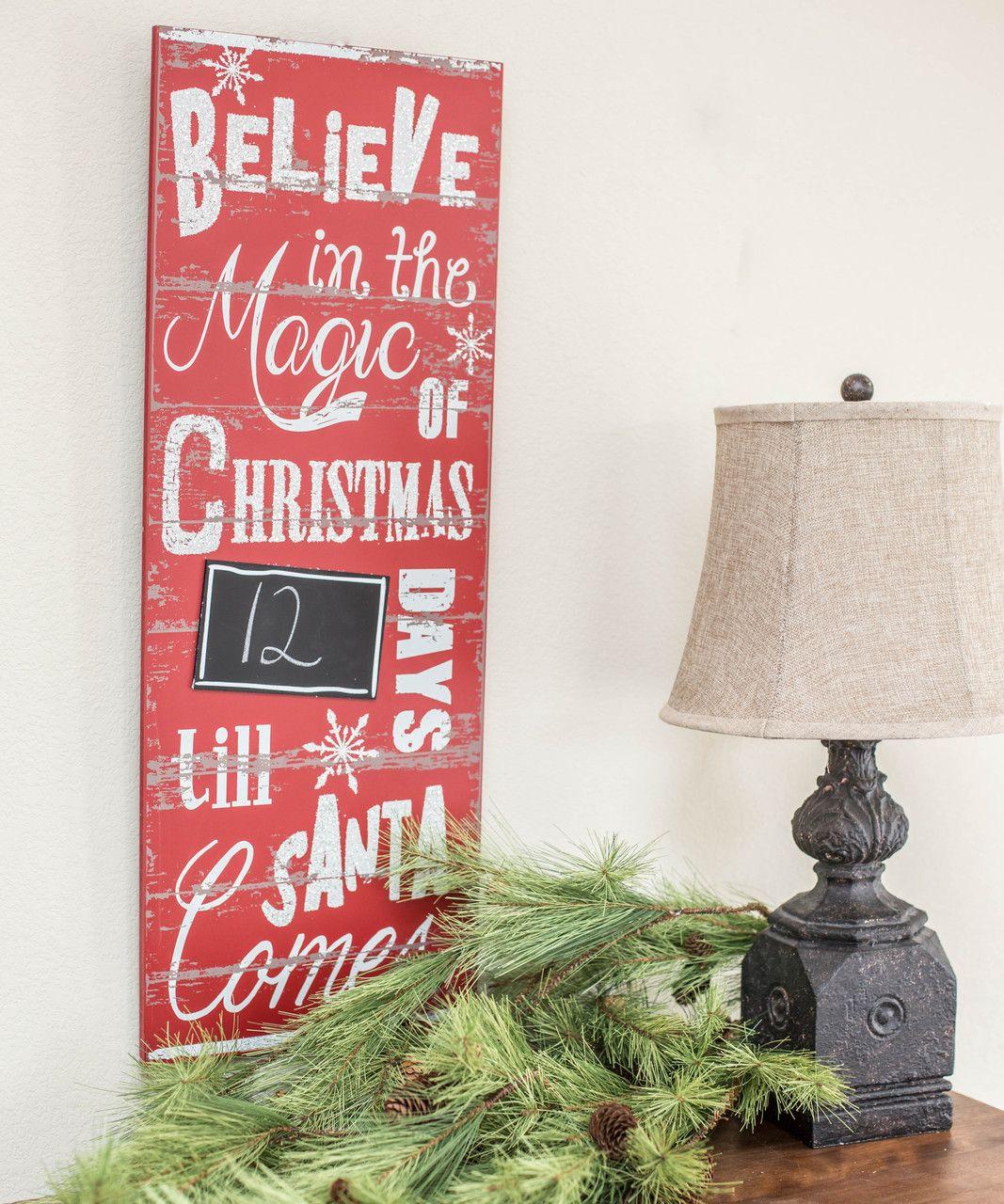 Santa Countdown Christmas countdown, Christmas crafty