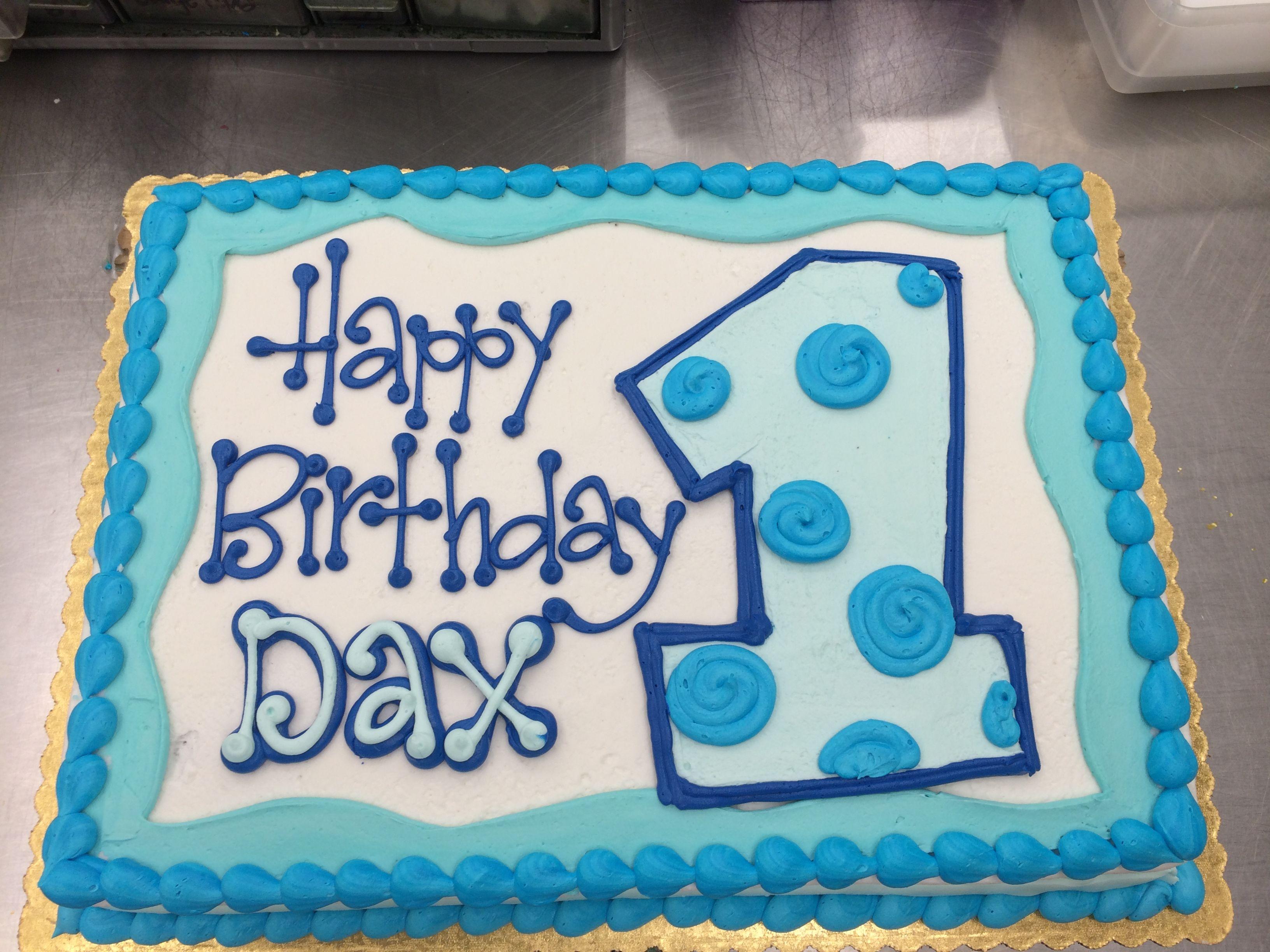 So Cute First Birthday Cake by Stephanie Dillon LS1 HyVee