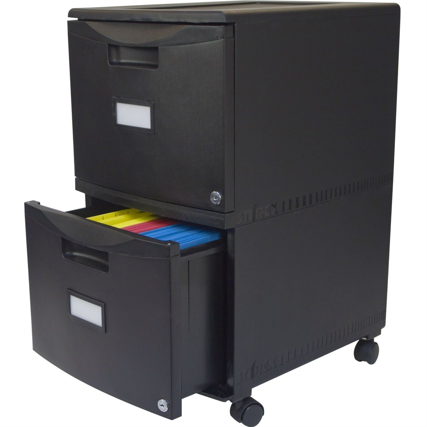 Black 2 Drawer Locking Letter Legal Size File Cabinet With Casters Wheels Filing Cabinet Mobile File Cabinet Drawers