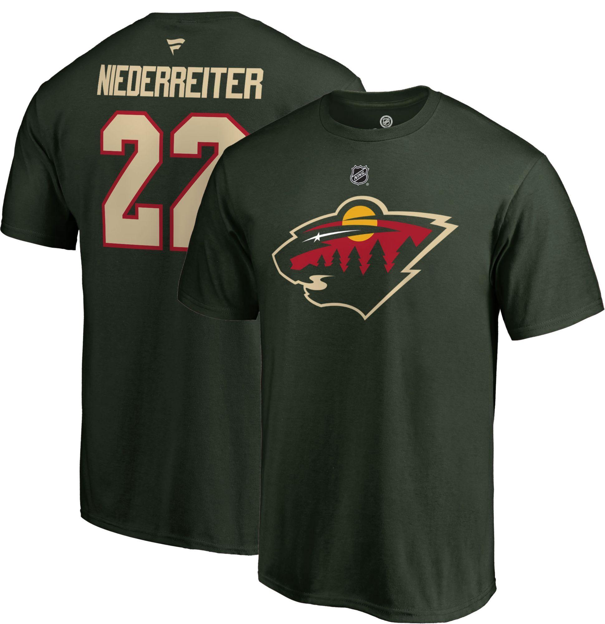sale retailer 125da 8cf50 NHL Men's Minnesota Wild Nino Niederreiter #22 Green Player ...