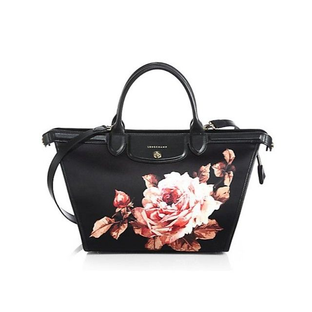 Bag of the day: Longchamp Le Pliage rose print leather