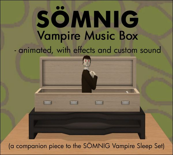Somnig Vampire Music Box Vampire Music Vampire Sims