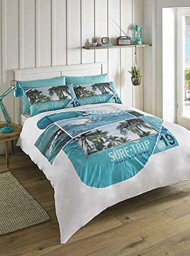Bedding Offshore Surf Trip Palm Tree Single Duvet Cover Duvet Cover Sets Duvet Covers Blue Duvet Cover