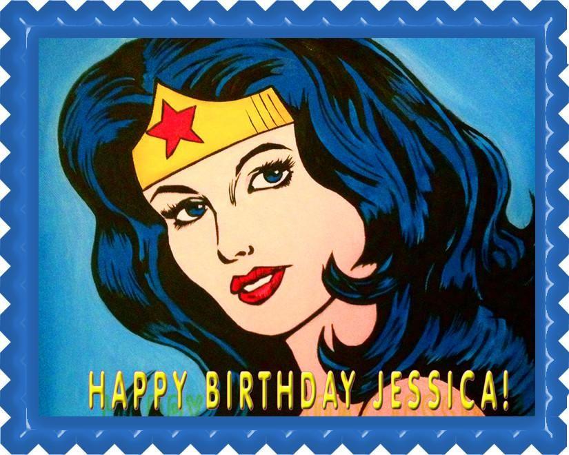 greetings card Wonder Woman printed on 230gsm photo paper