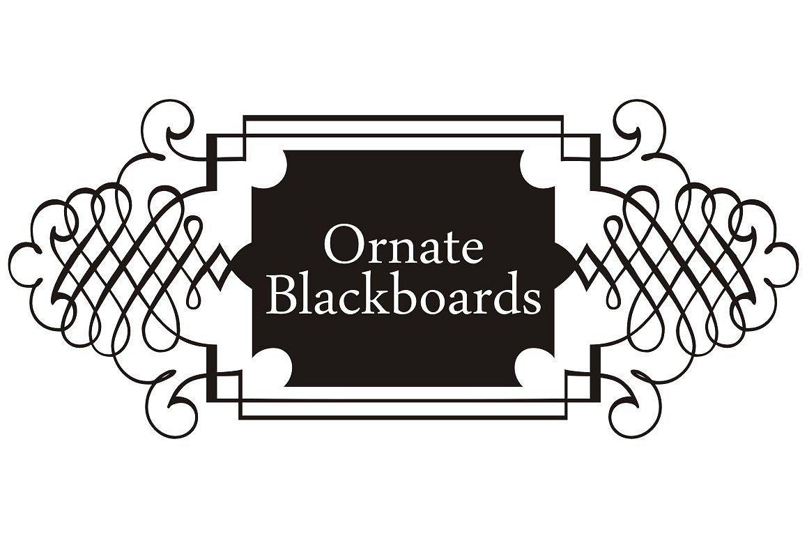 Download Ornate Blackboards pack (31677)   Dingbats   Font Bundles ...