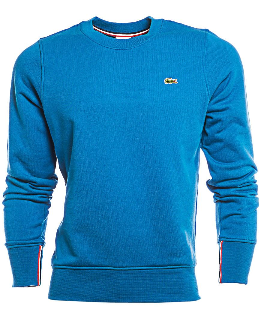 14dd73f9d3b4 Lacoste Live Plain Crew Neck Sweater Shirts New Men s Blue Shirt Size 3 4 5  6