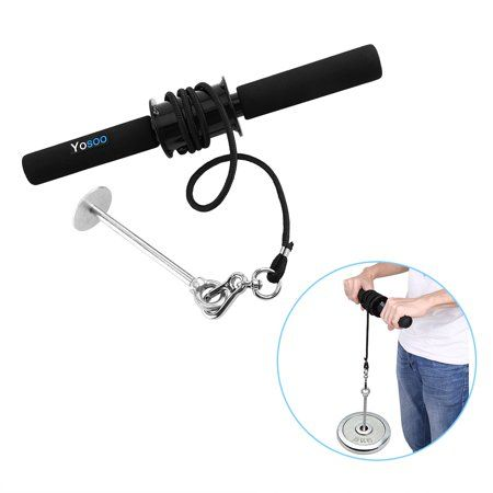 yosoo forearm roller exercise hand wrist grip workout weight ...
