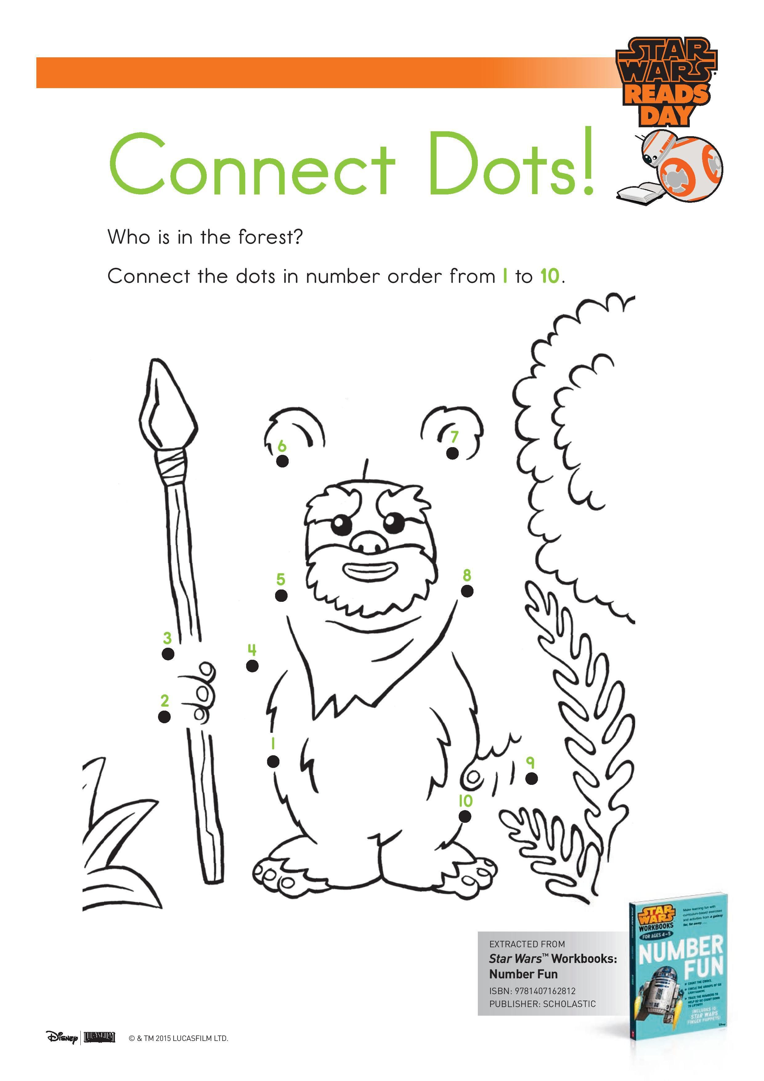 Star Wars Connect The Dots Dot To Activity Page Printable