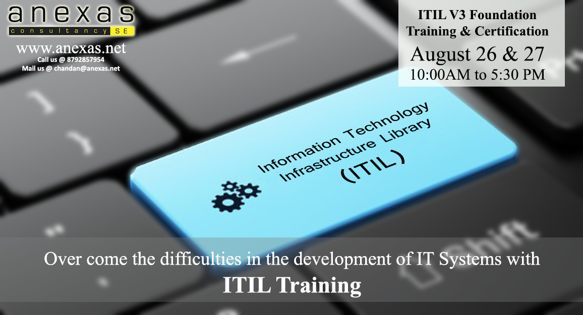 Itil V3 Foundation Training By Anexas Dates August 26 27