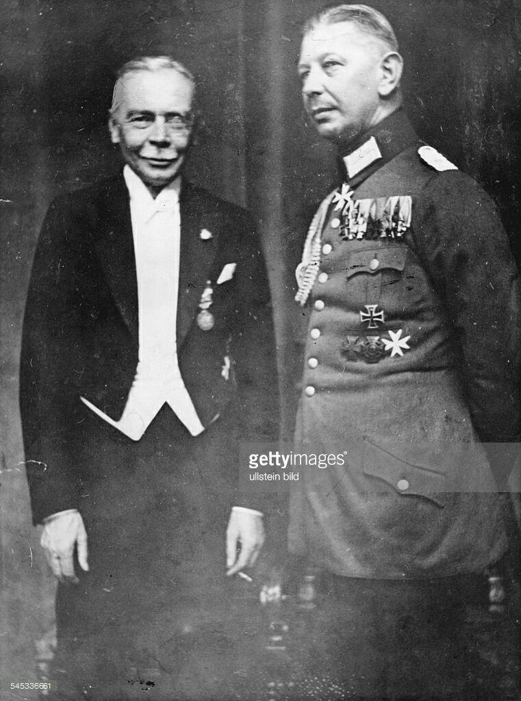 Generaloberst Hans Von Seeckt With Oberst Oskar Von Beneckendorff