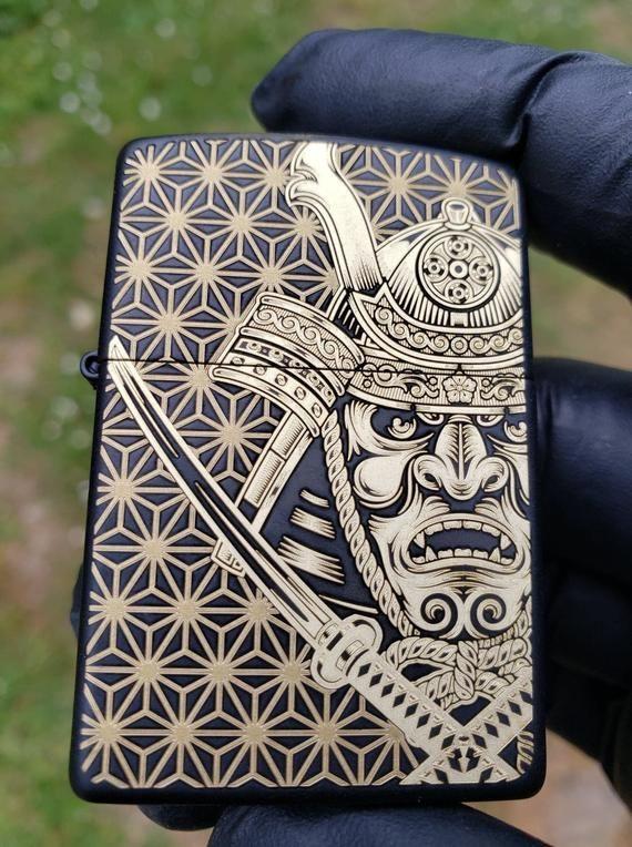 Samurai Laser Engraved Zippo #zippo