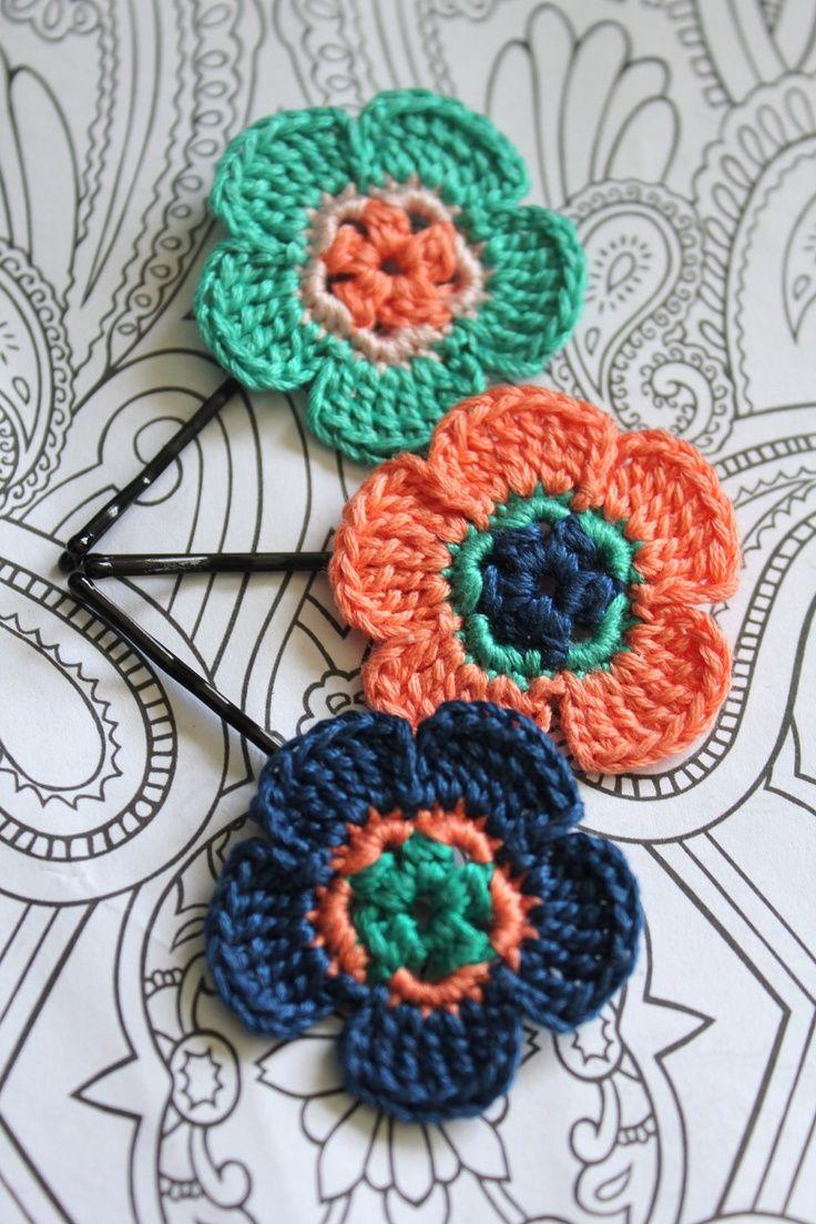 Pin by leen bino on crochet pinterest crochet blue melon crochet daisy flower hair pins by catwomancrafts izmirmasajfo Choice Image