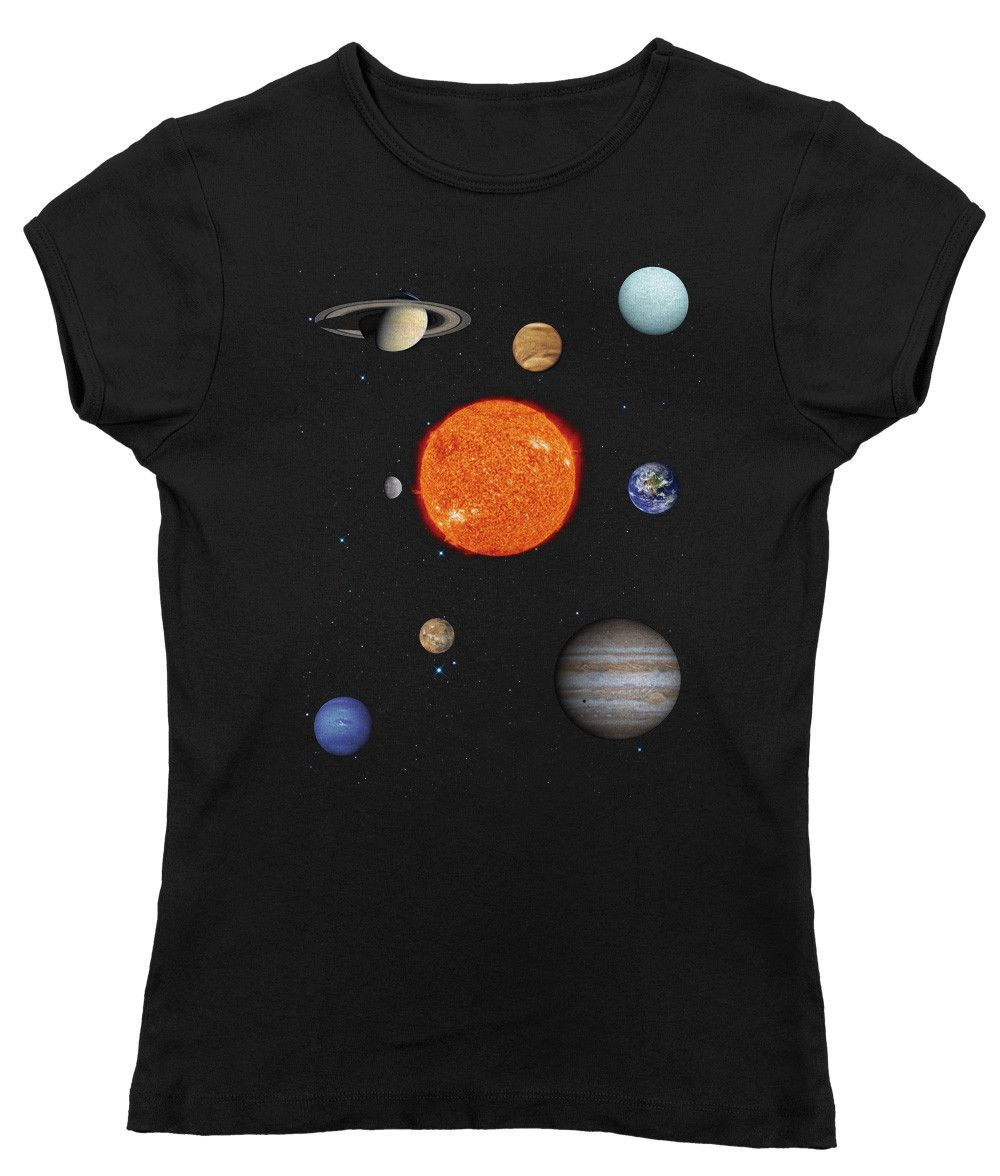 Women's Solar System T-Shirt - Juniors Fit