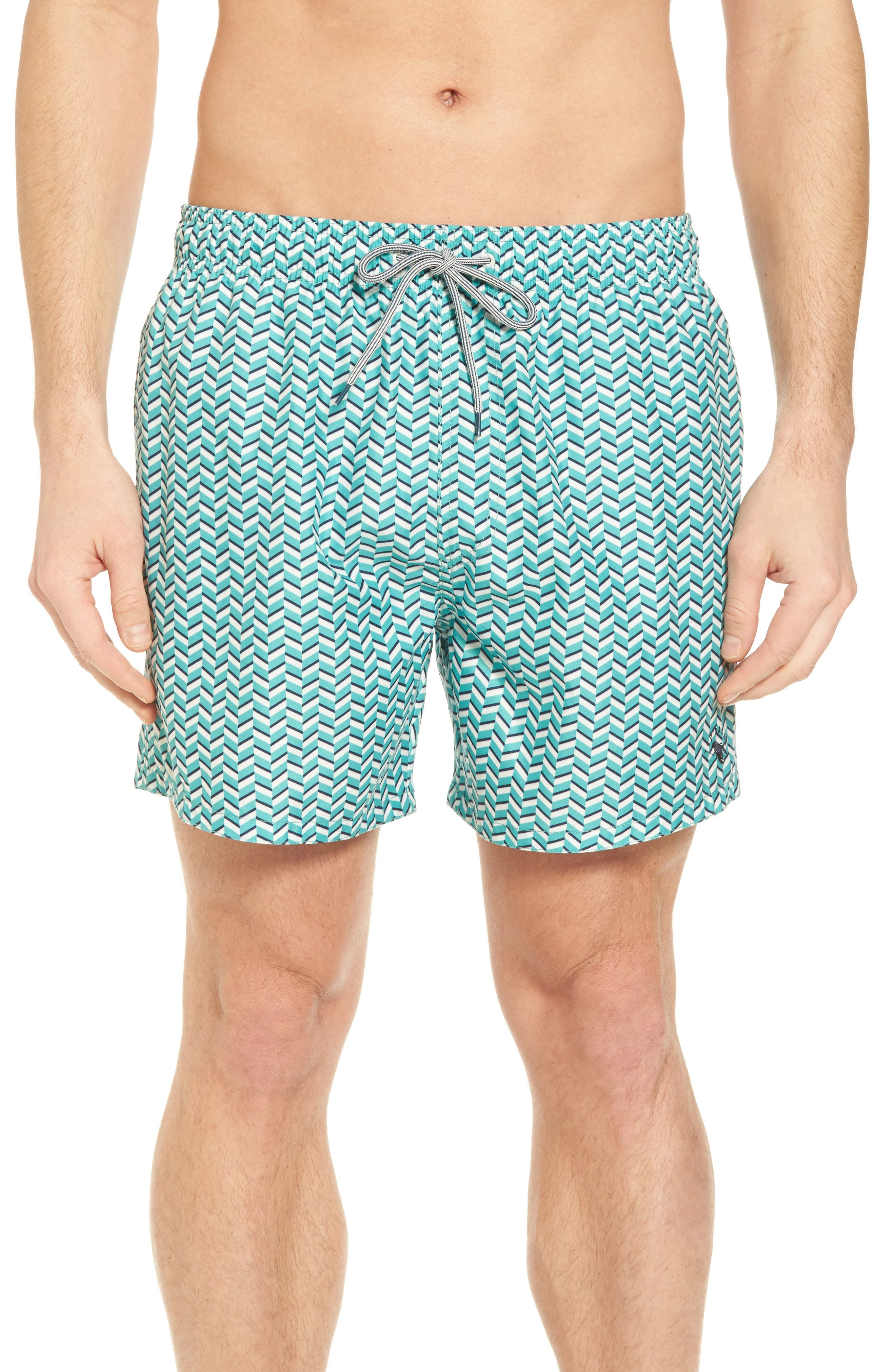 5797222c03af Ted Baker London Caven Geo Print Swim Trunks available at  Nordstrom ...