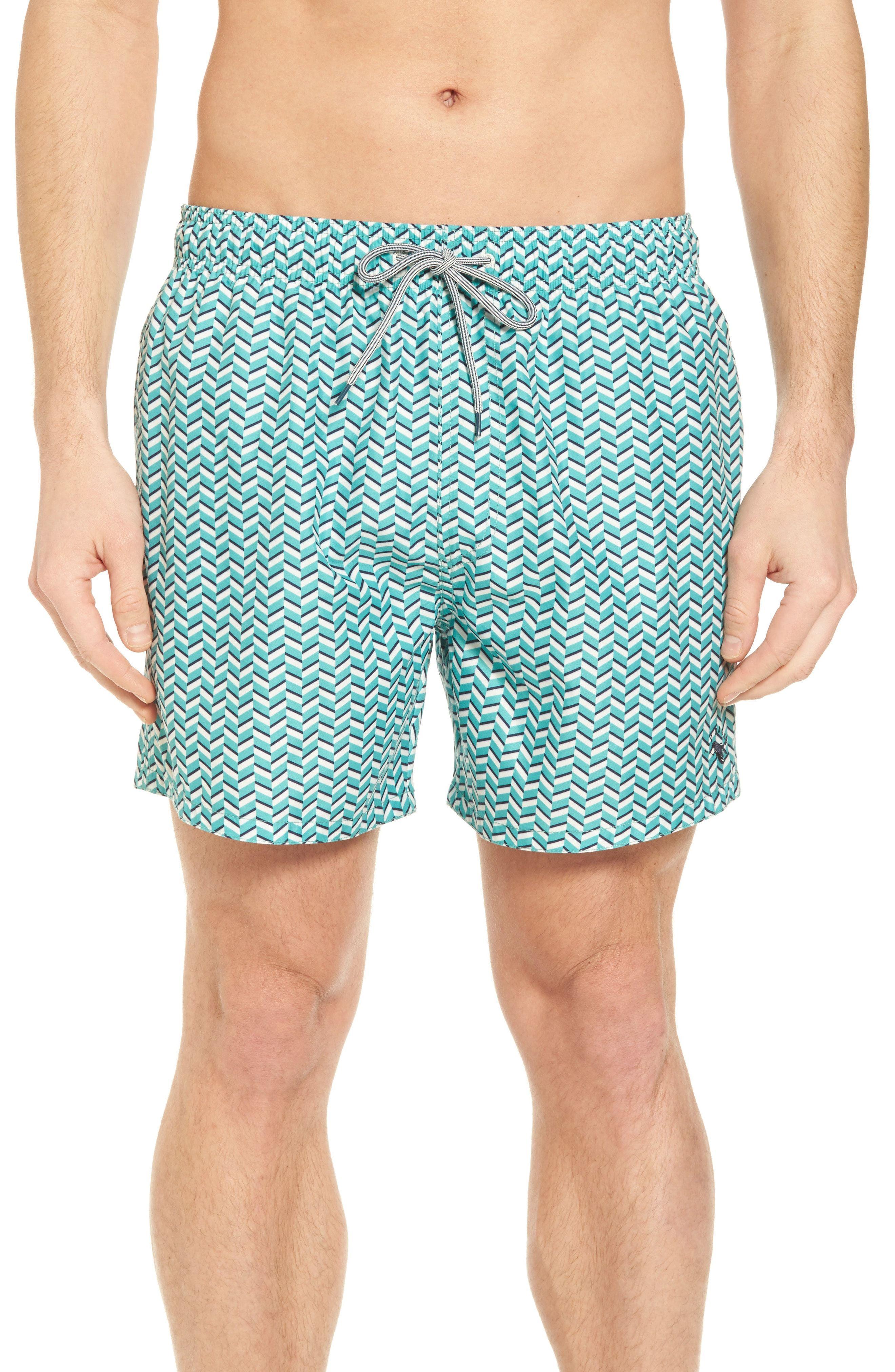 88d1601c3d70e Ted Baker London Caven Geo Print Swim Trunks available at #Nordstrom ...