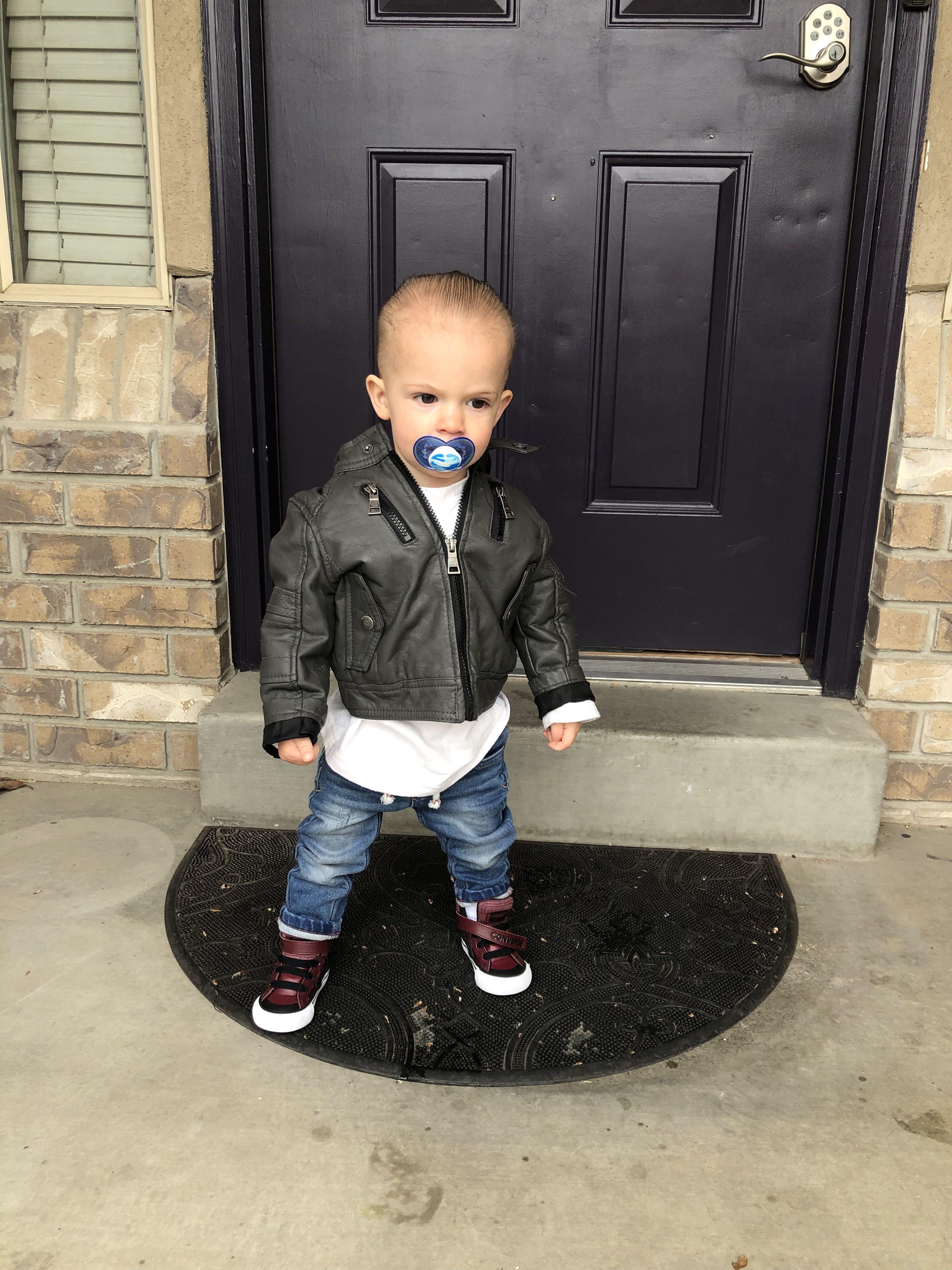 Toddler Fashion Skinny Jeans Slick Back Hair And Leather Jacket Toddler Fashion Slicked Back Hair Skinny [ 4032 x 3024 Pixel ]
