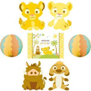 Amazon.com: Lion King Baby Shower Room Decorating Kit Party Supplies Decor  Disney: