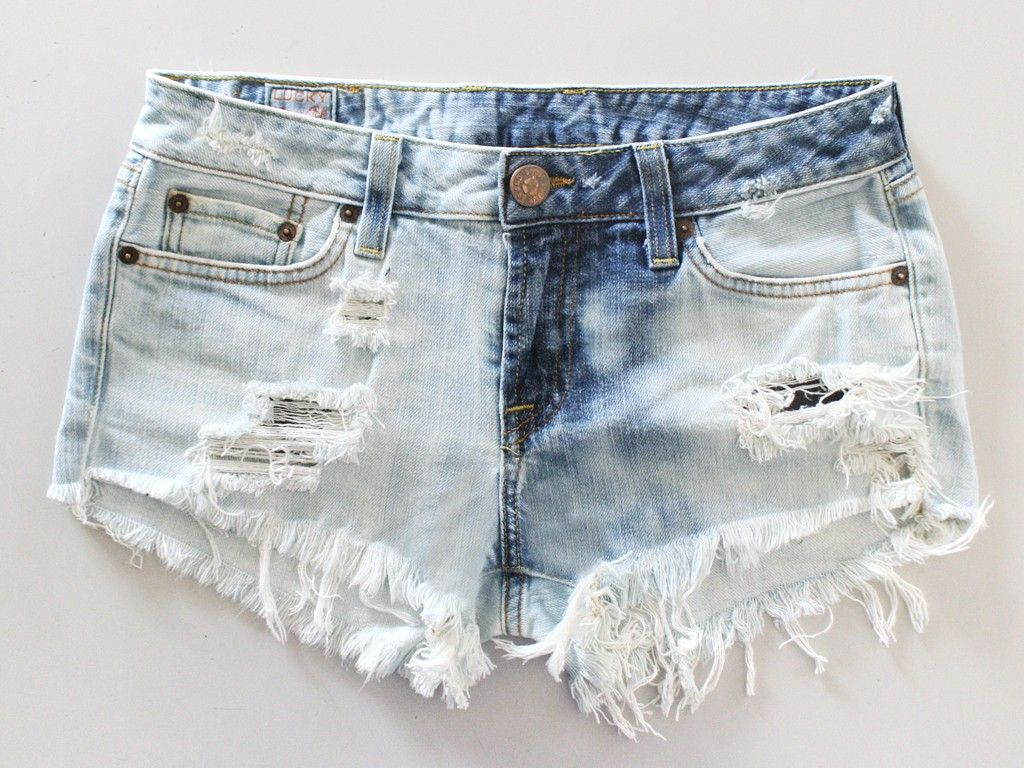 Grey Acid Wash Frayed Denim Hotpants ($46) ❤ liked on Polyvore ...