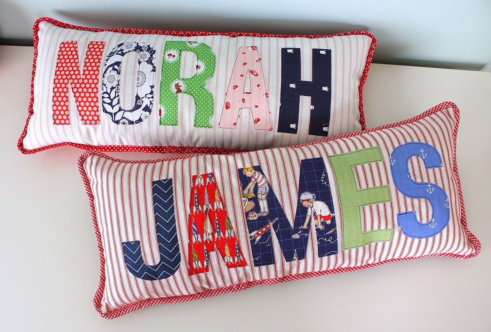 Applique name pillows quilts ive made pinterest quilts